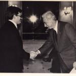 Guido Donati con il presidente Cossiga durante un concerto al Quirinale