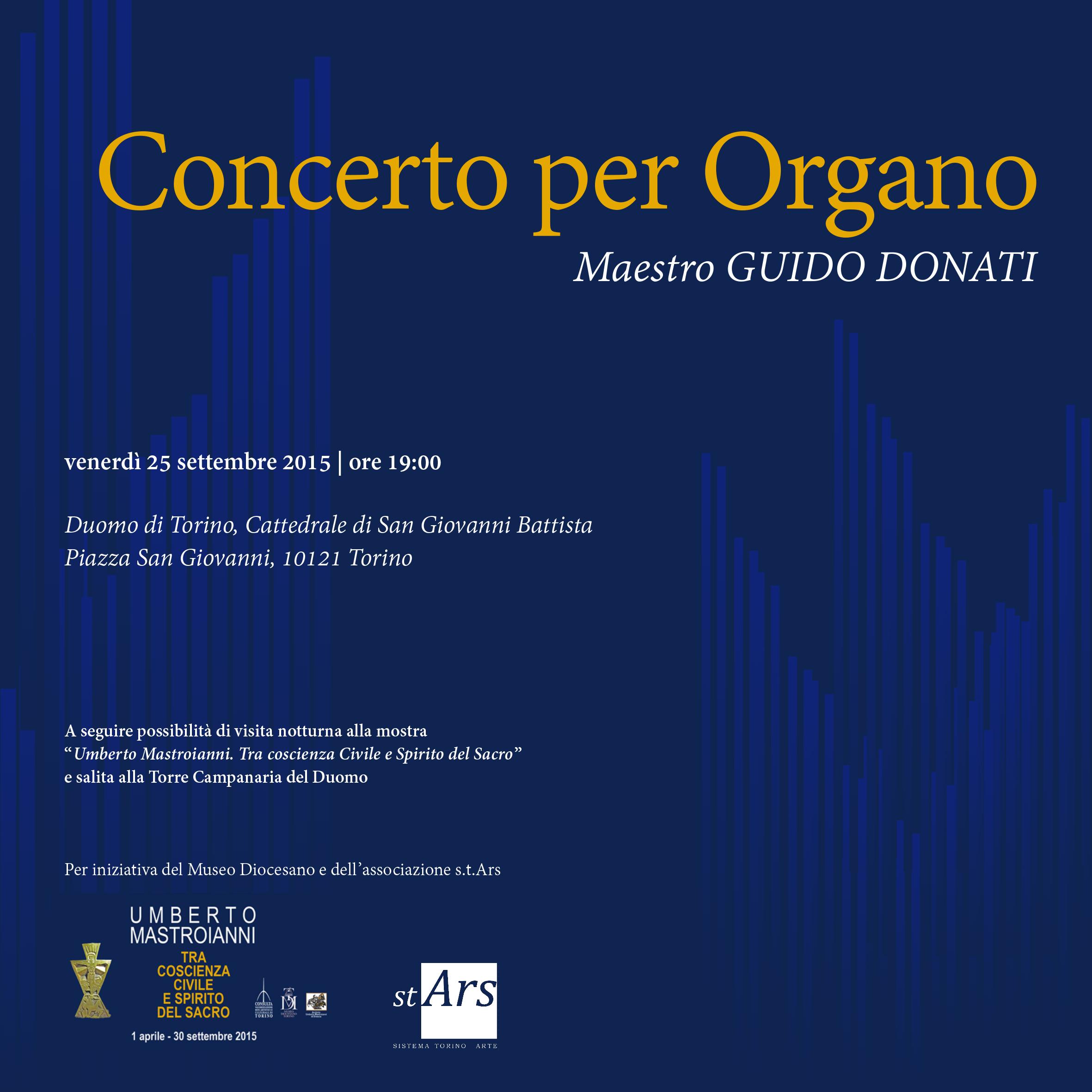Programma concerto Duomo Torino - Guido Donati